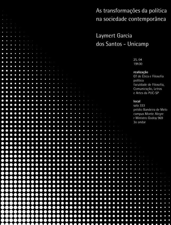 Conferência do prof. Laymert Garcia dos Santos - Cartaz